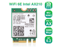 EDUP Wi-Fi 6E 6Ghz WiFi Card 11AX Wireless Module 3 Band 6GHz; 5GHz; 2.4GHz MU-MIMO Tri-Band Internal Network Adapter with Bluetooth 5.2 for Laptop, Support Windows 10 64bit, M.2/NGFF