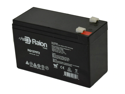Raion Power 12V 7Ah Replacement Battery With T2/F2 Terminals For Sealed Lead Acid 12 Volt 7.2 Amp - 1 Pack