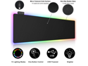 Large RGB Soft Gaming Mouse Pad, Airgoo Led Extended Mousepad with 14 Lighting Modes, Non-Slip Rubber Base Computer Keyboard Mousepads Mat, 31.5×11.8 inches