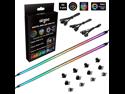 NEON Addressable RGB Strip for PC, Airgoo 2x15.7inch WS2812B RGBIC Rainbow Magnetic ARGB Strip for 5V 3-pin Aura SYNC, Gigabyte RGB Fusion, MSI Mystic Light Sync, with 12pcs Strong Magnetic Brackets