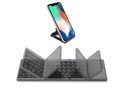 Foldable Bluetooth Keyboard with Touchpad - Samsers Portable Wireless Keyboard with Stand Holder, Rechargeable Full Size Ultra Slim Pocket Folding Keyboard for Android Windows IOS Tablet & Laptop