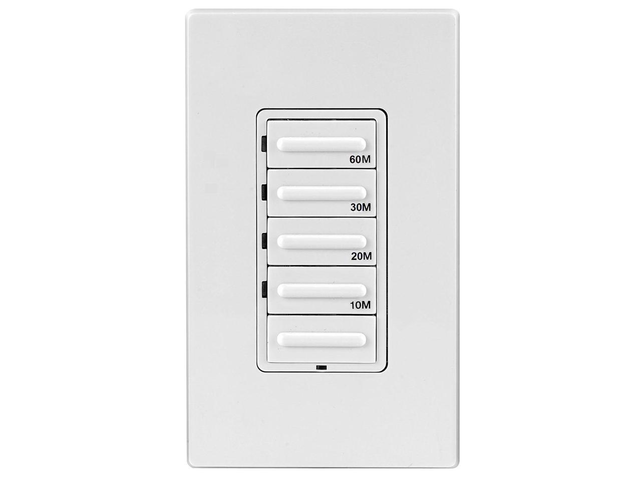 Leviton Decora Preset Countdown Timer Wall Switch, 155 Min LTB155 15LZ