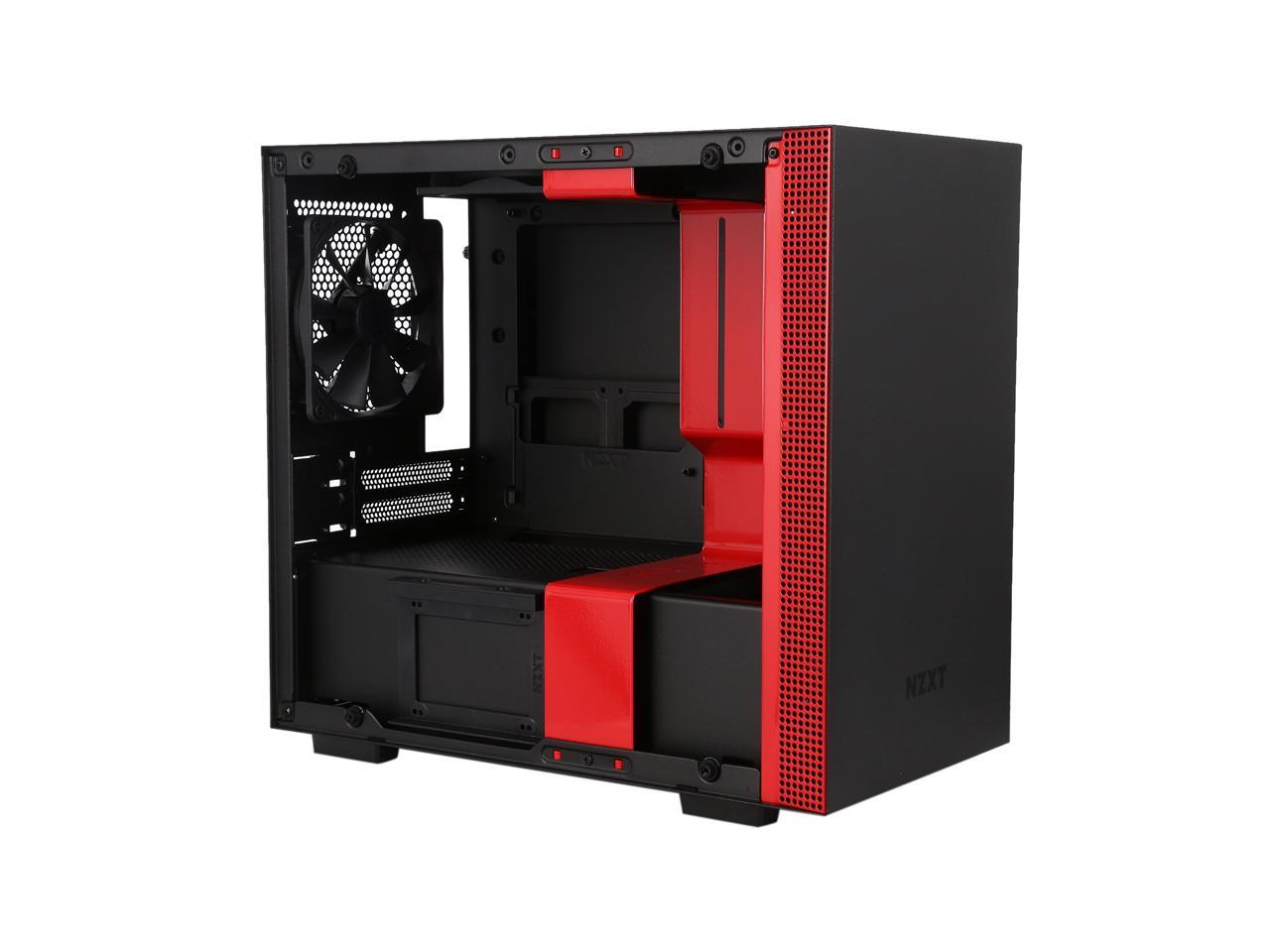 Tempered Glass Panel NZXT H200 Water Cooling Ready Black//Red Enhanced Cable Management System 2018 Model Mini-ITX PC Gaming Case