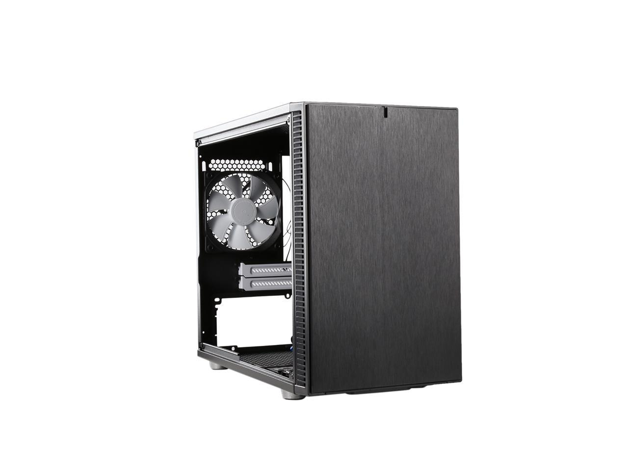 Fractal Design Define Nano S Black Window Silent Mini Itx Mini Tower Computer Case Newegg Com