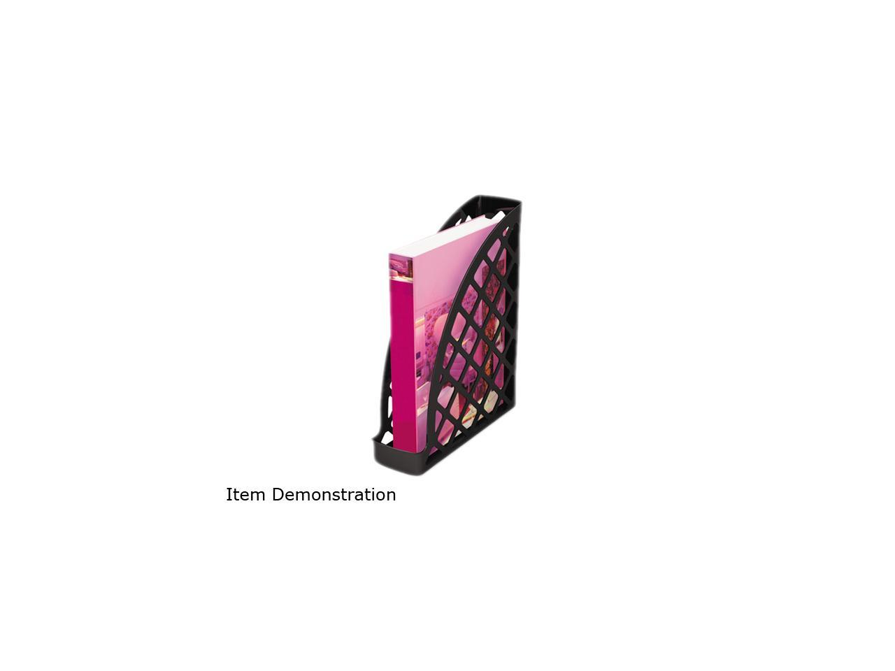 Recycled Plastic Magazine File Black 11 3//4 x 3 x 9 1//2