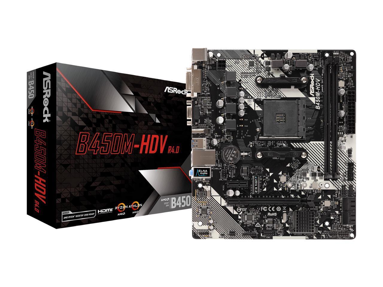 ASRock B450M-HDV R4.0 Motherboard