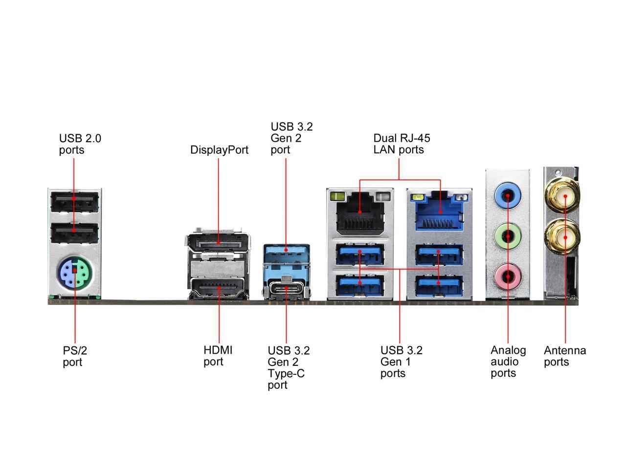 ASRock Z490M-ITX/ac LGA 1200 Mini ITX Intel Motherboard ...