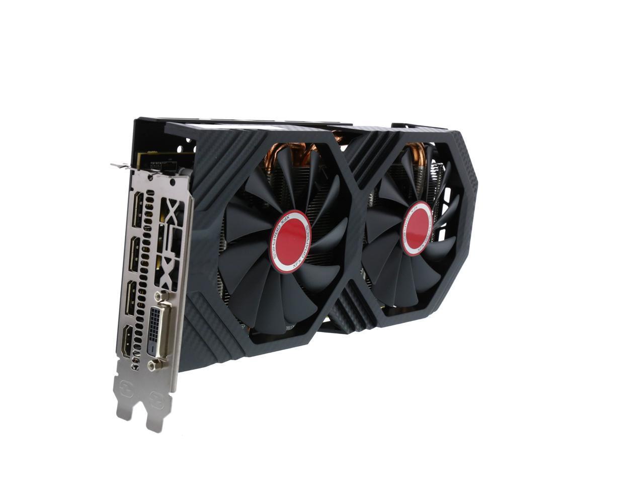 Xfx Radeon Rx 580 Directx 12 Rx 580p8dfd6 Xxx Edition 8gb 256 Bit Gddr5 Pci Express 3 0 Crossfirex Support Video Card Newegg Com