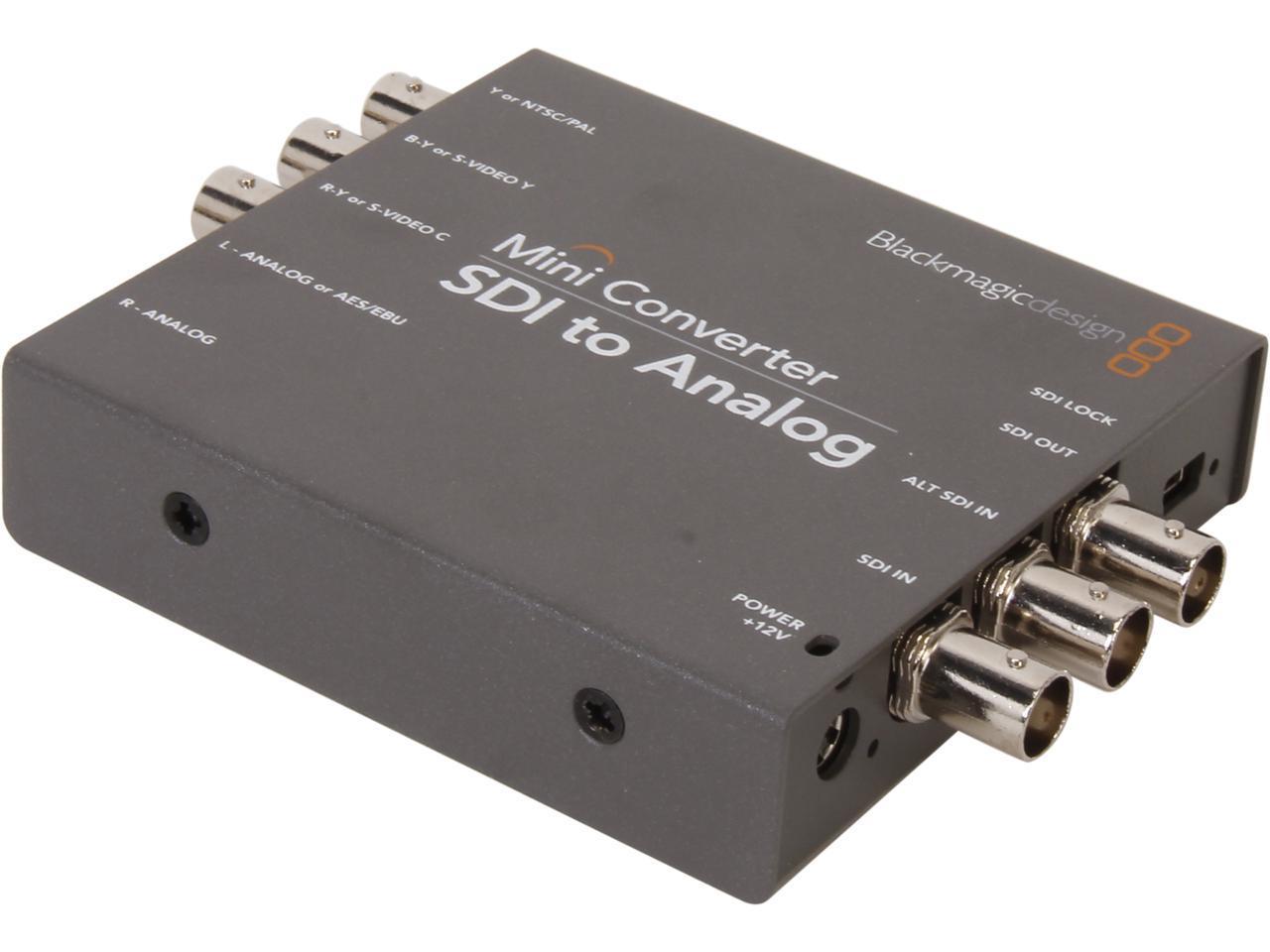 Blackmagic Design Mini Converter Sdi To Analog Convmasa Newegg Com