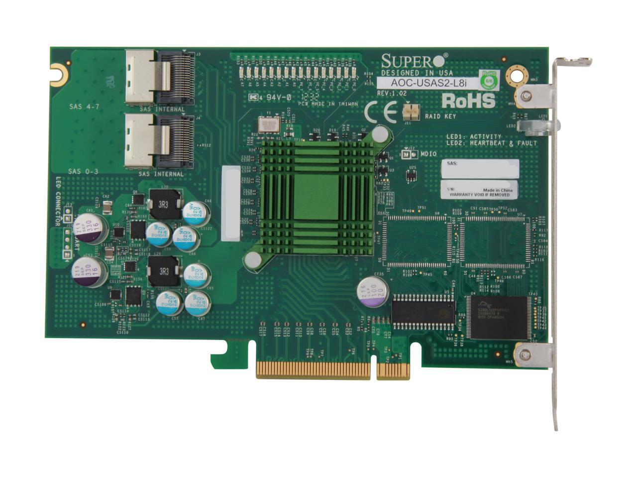Supermicro Add-on Card AOC-USAS2-L8E Storage controller 600 MBps Serial Attached SCSI