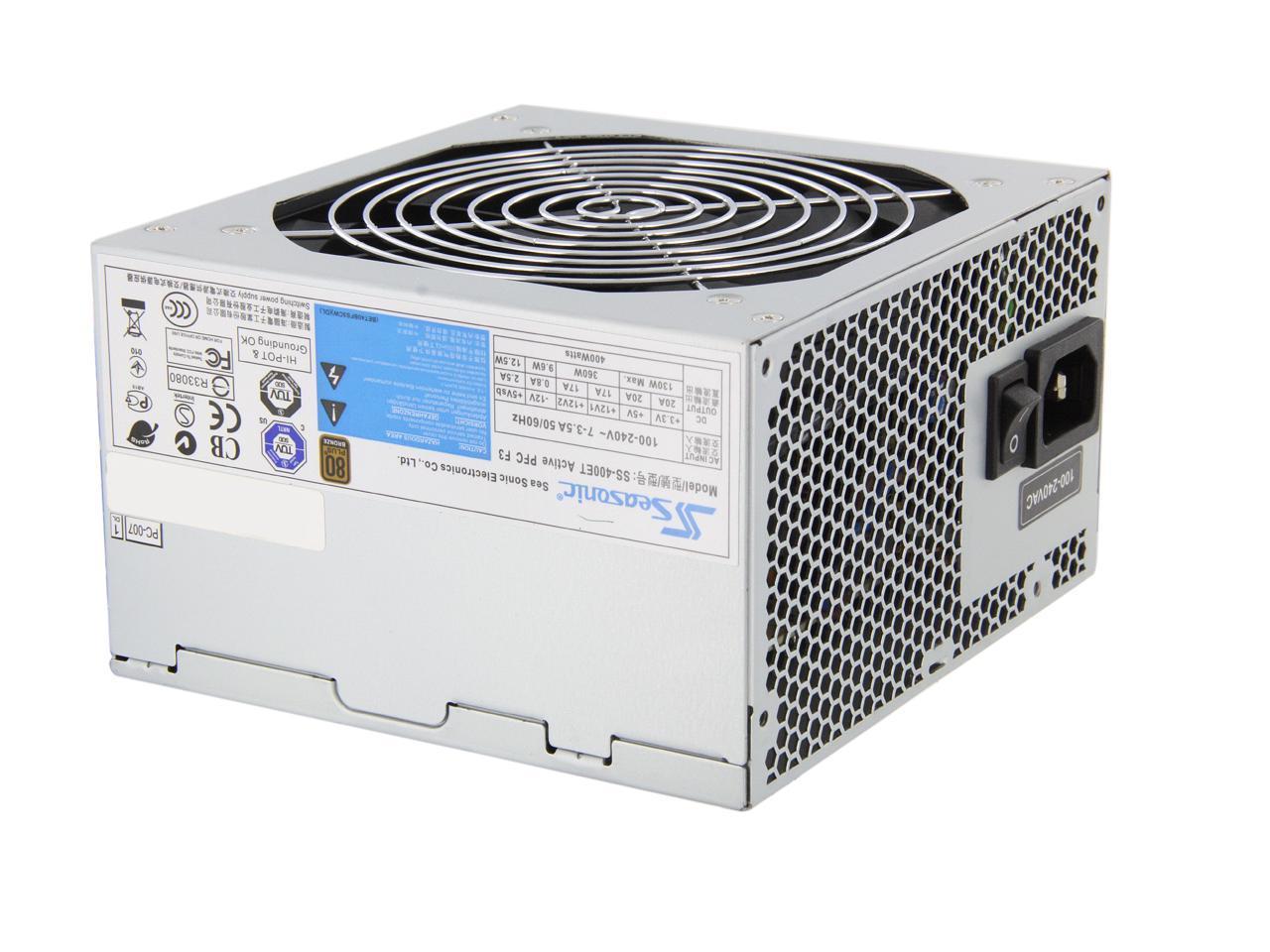 Seasonic 400W Power Supply SS-400ET PFC F3  80 Bronze