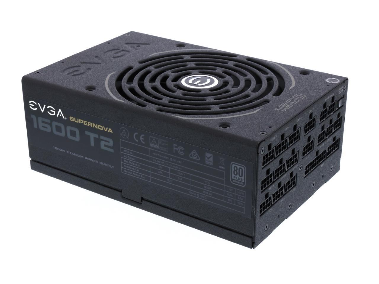 Evga Supernova 1600 T2 220 T2 1600 X1 80 Titanium 1600w Fully Modular Evga Eco Mode Includes Free Power On Self Tester Power Supply Newegg Com