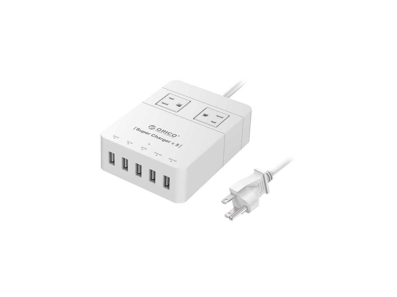 ORICO 4 AC Outlet Surge Protector with 5 USB Charging Port HPC-4A5U-V1-US