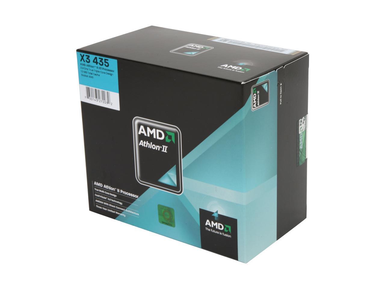 Used Like New Amd Athlon Ii X3 435 2 9 Ghz Socket Am3 Adx435wfgibox Processor Newegg Com