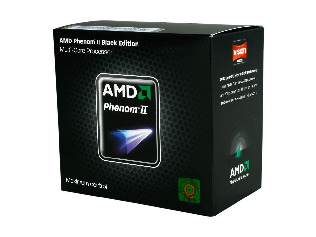 Used Very Good Amd Phenom Ii X6 1090t Black Edition 3 2 Ghz Socket Am3 Hdt90zfbgrbox Desktop Processor Newegg Com