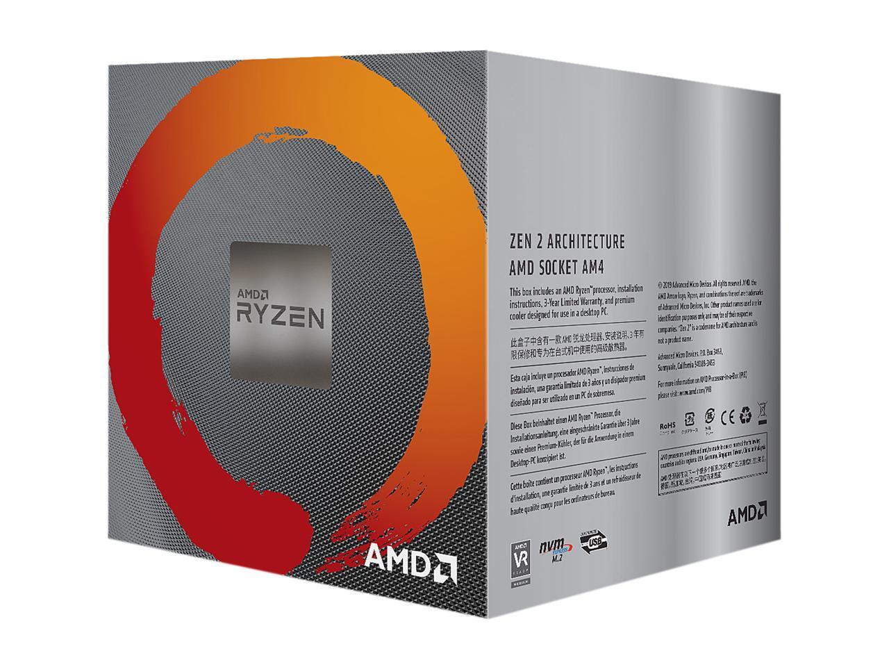 Amd Ryzen 5 3600xt 3 8 Ghz Socket Am4 100 100000281box Desktop Processor Newegg Com