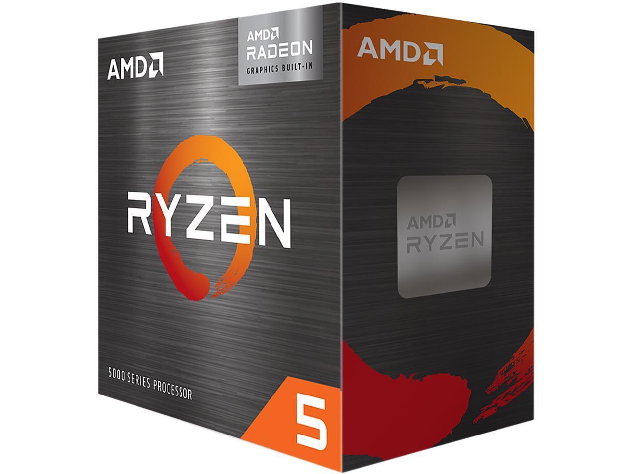AMD Ryzen 5 5600G Cezanne 6-Core 3.9 GHz Socket AM4 65W 100-100000252BOX Desktop Processor AMD Radeon Graphics