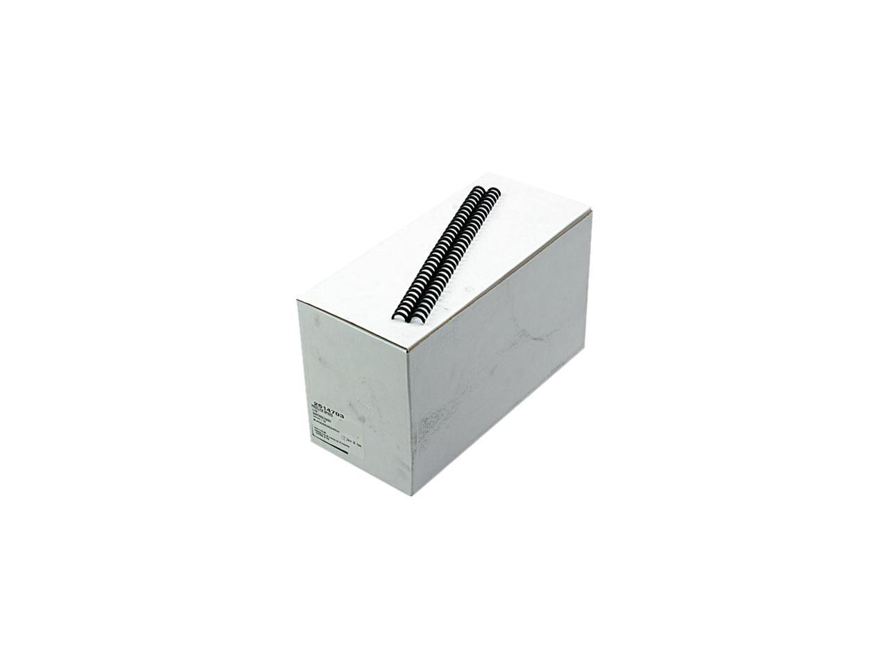 "100//Box Gbc Combbind Standard Spines Black 1//4/"" Diameter 25 Sheet Capacity"