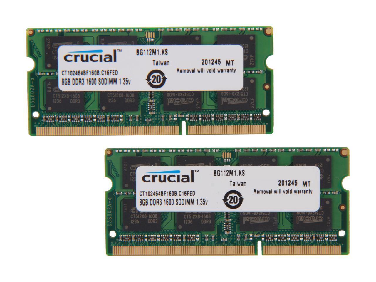 2 x 8GB | DDR3 1600MHz SODIMM PC3-12800 204-Pin Non-ECC Memory Upgrade Kit A-Tech 16GB RAM for DELL INSPIRON 17R 3737