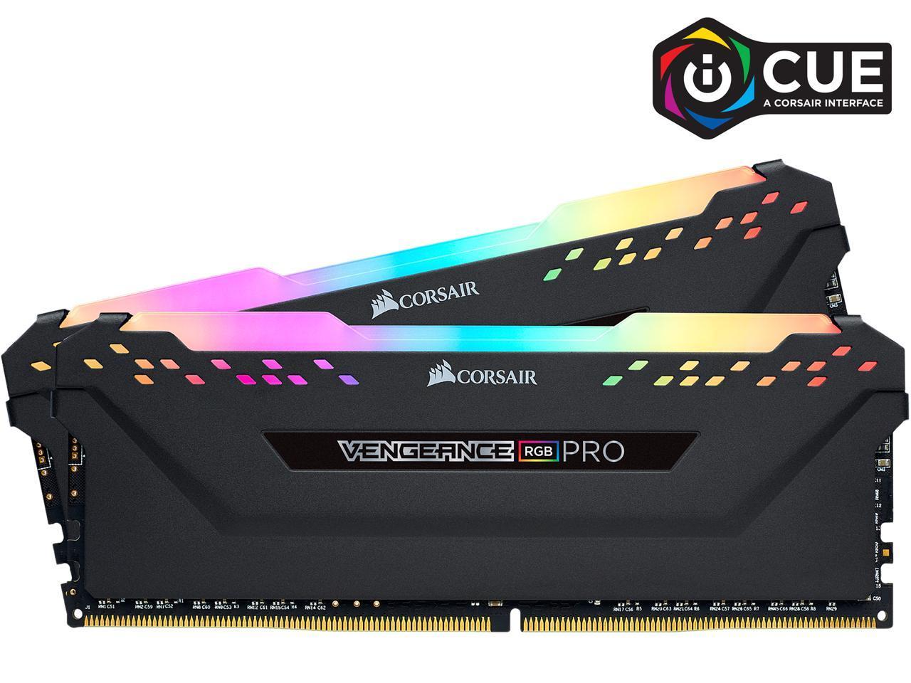 CORSAIR Vengeance RGB Pro 16GB (2 x 8GB) 288-Pin DDR4 SDRAM DDR4 3600 Intel XMP 2.0 CMW16GX4M2D3600C18