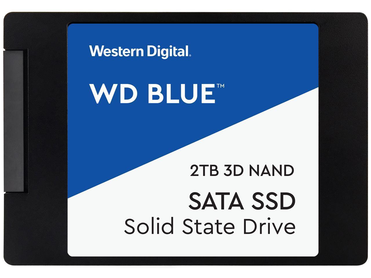 """WD Blue 2.5"""" 2TB SATA III 3D NAND Internal Solid State Drive (SSD)  WDS200T2B0A"""