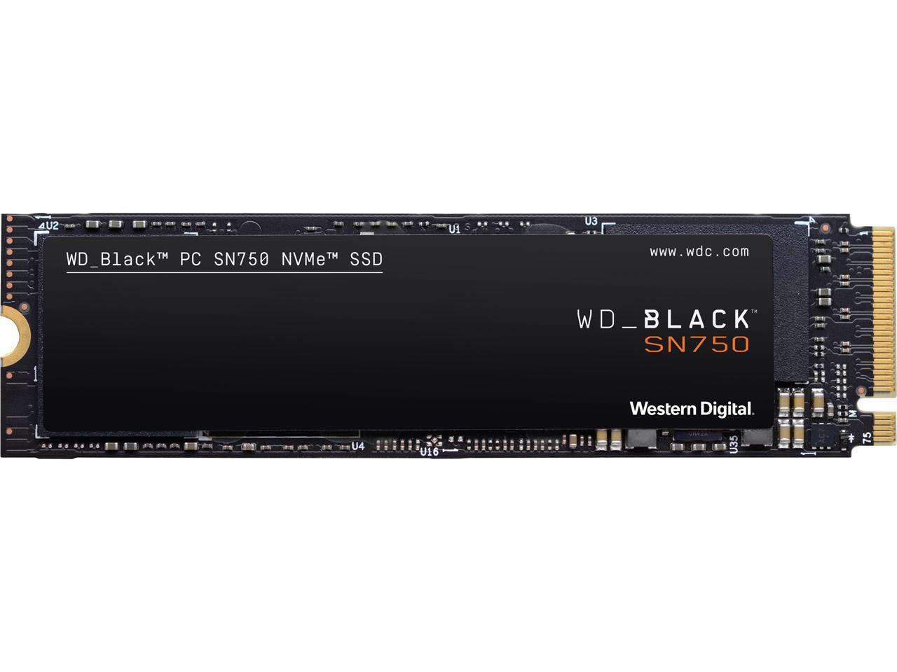 WD Black SN750 PCIe NVMe 3.0 1TB M.2 2280 Internal Solid State Drive (SSD) WDS100T3X0C