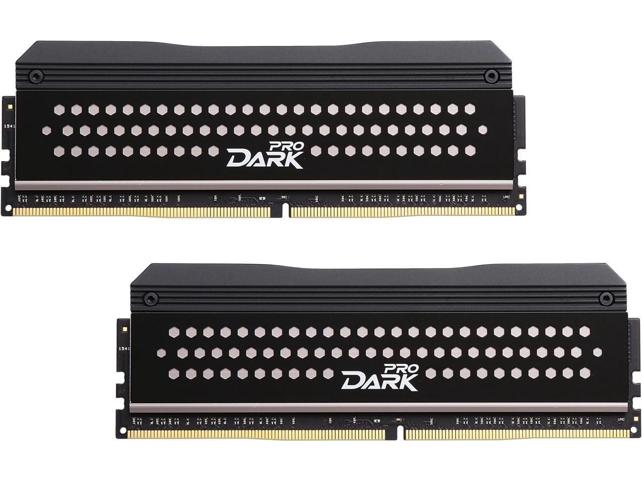 Team T Force Dark Pro 16gb 2 X 8gb 288 Pin Ddr4 Sdram Ddr4 3200 Pc4 25600 Desktop Memory Model Tdpgd416g3200hc14adc01 Newegg Com