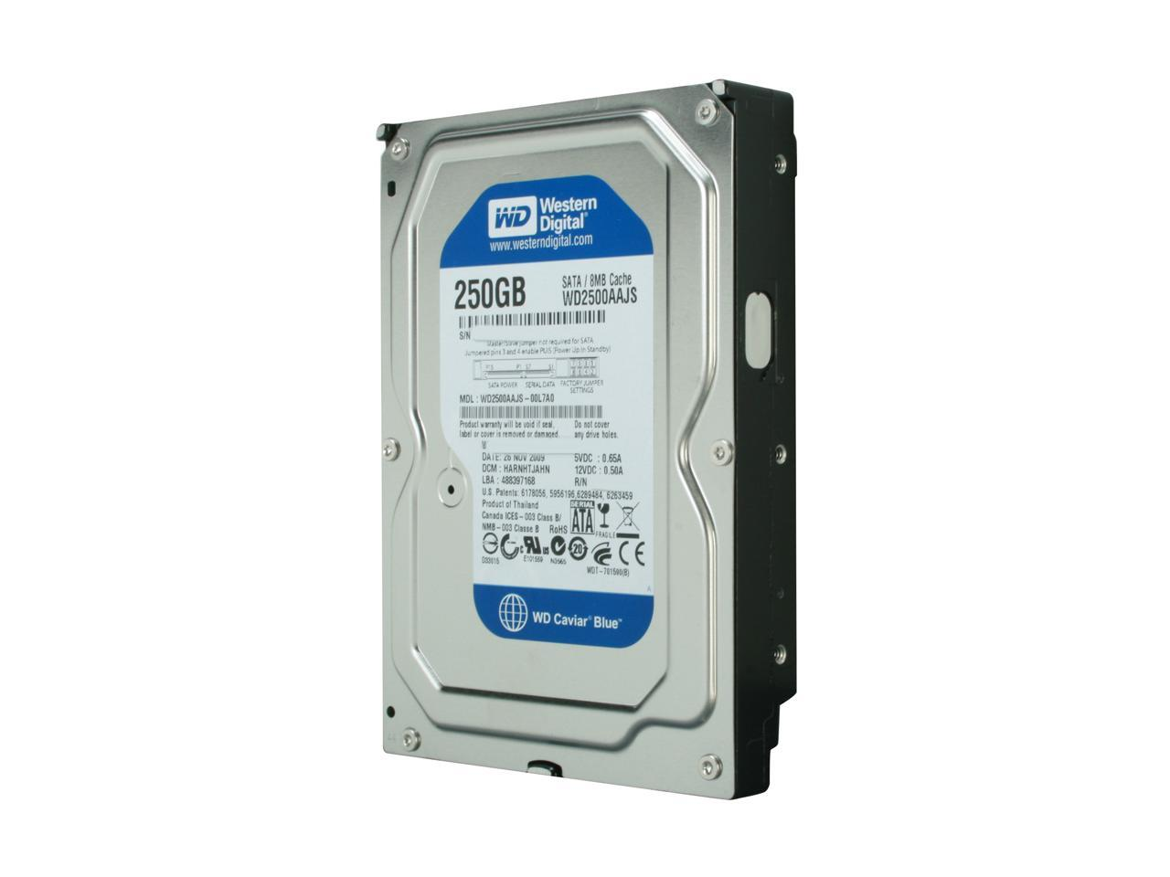 Renewed SATA Internal Hard Drive 7200RPM Western Digital WD2500AAJS-60Z0A0 250GB