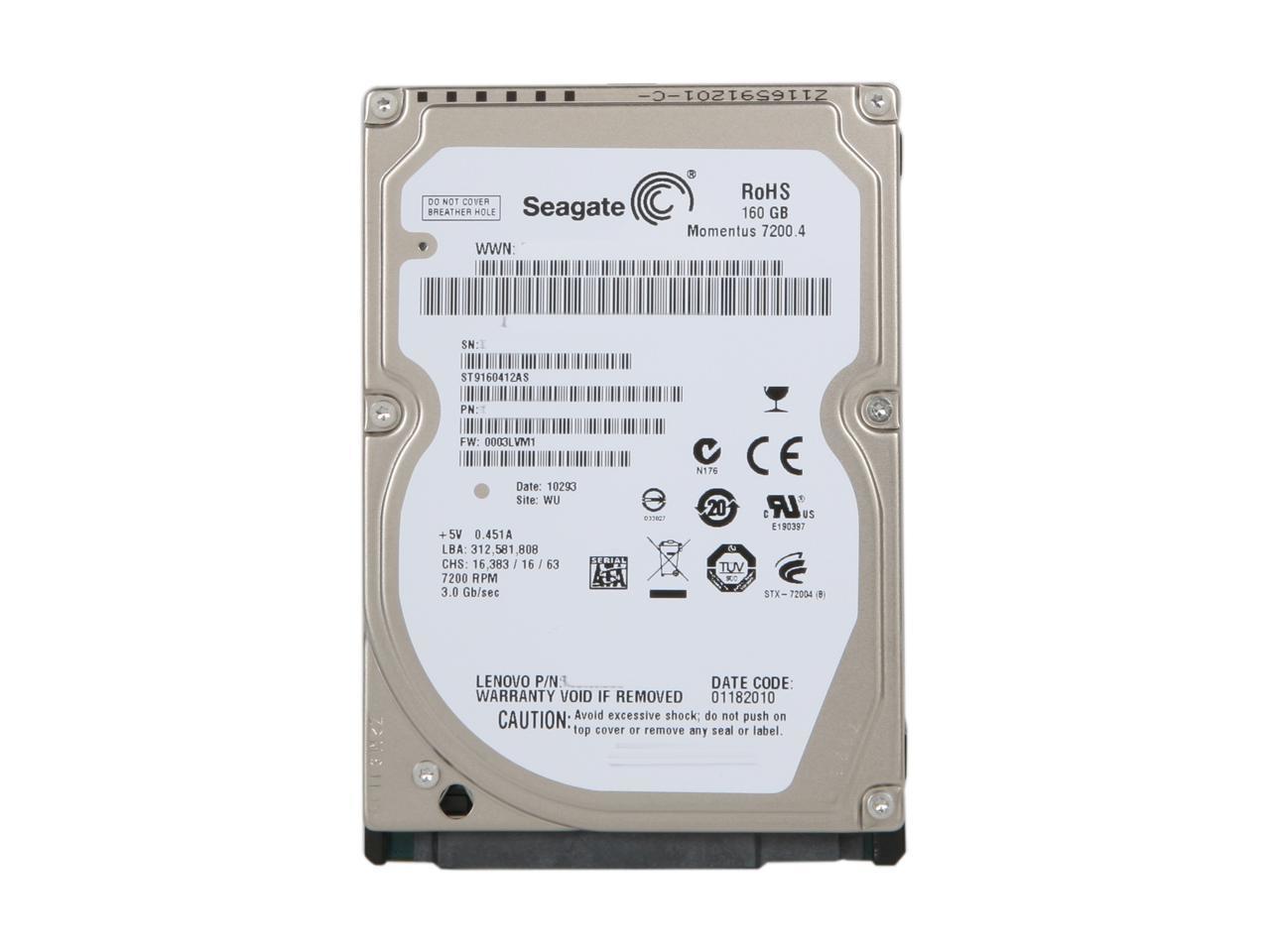 160 GB SATA 7200 RPM