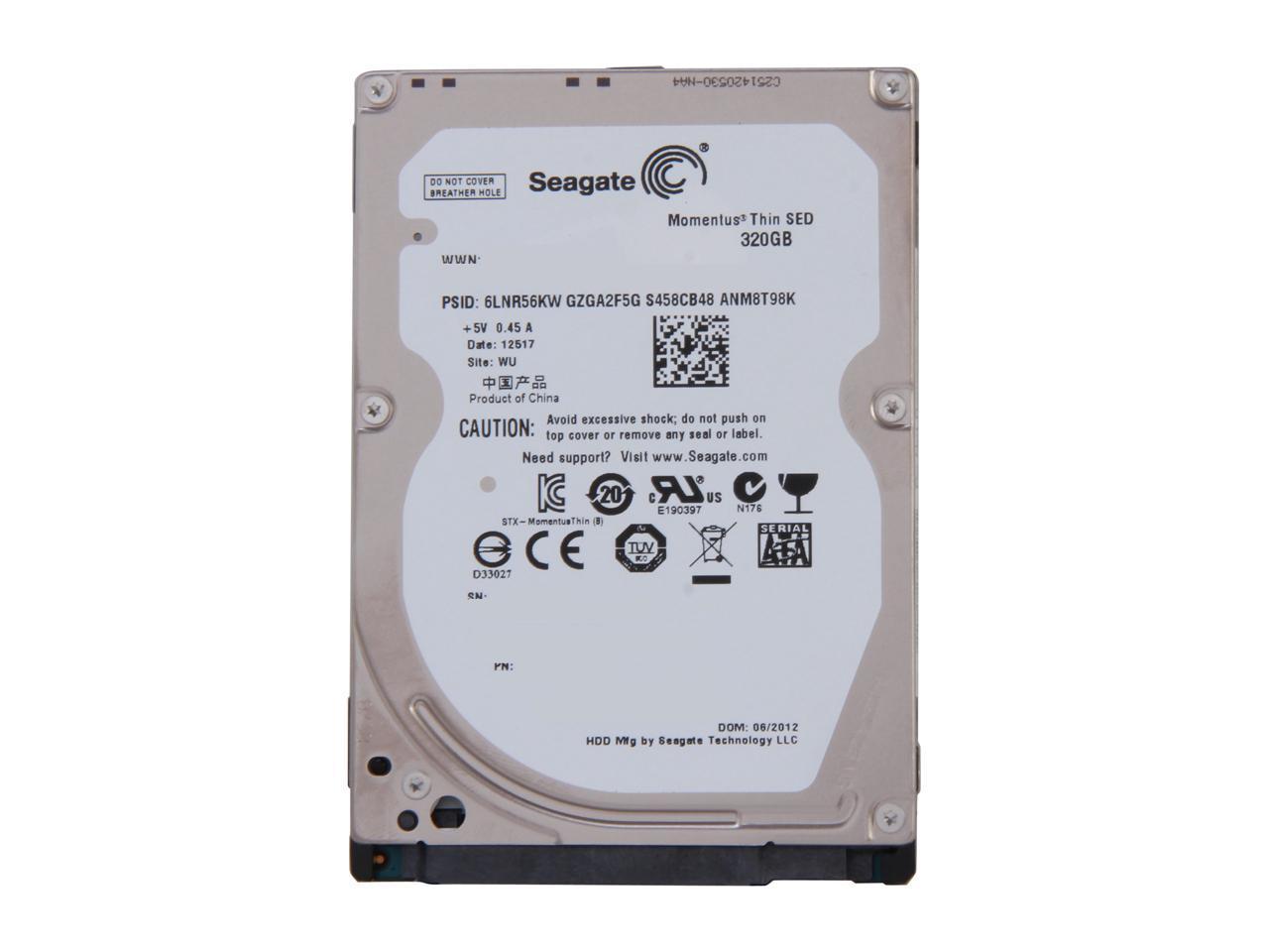 Seagate Momentus Thin ST320LT007 320GB 7200 RPM 16MB Cache