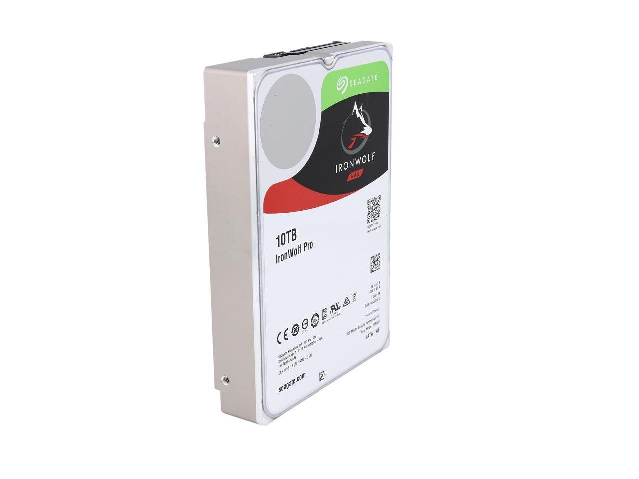 Seagate Ironwolf Pro 10tb Nas Hard Drive 7200 Rpm 256mb Cache Sata 6 0gb S 3 5 Internal Hard Drive St10000ne0004 Newegg Com