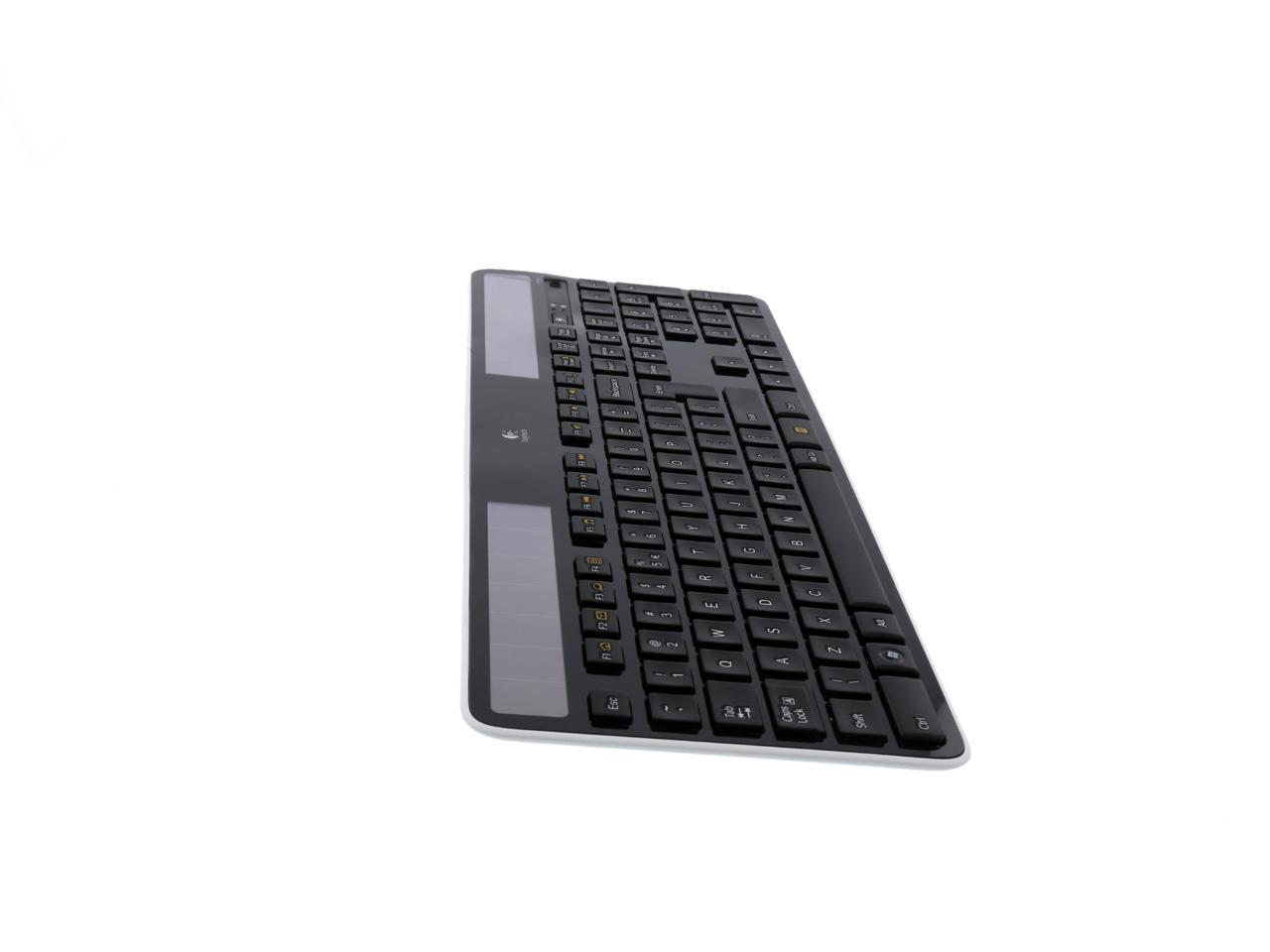 Logitech K750 2 4ghz Wireless Solar Powered Keyboard Black Newegg Com