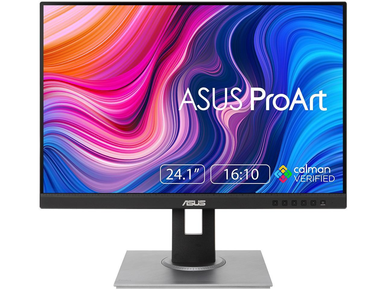 Asus Proart Display Pa248qv 24 1 Wuxga 1920 X 1200 16 10 Professional Monitor 100 Srgb Rec 709 Delta E 2 Ips Displayport Hdmi D Sub Tilt Pivot Swivel Height Adjustable Newegg Com