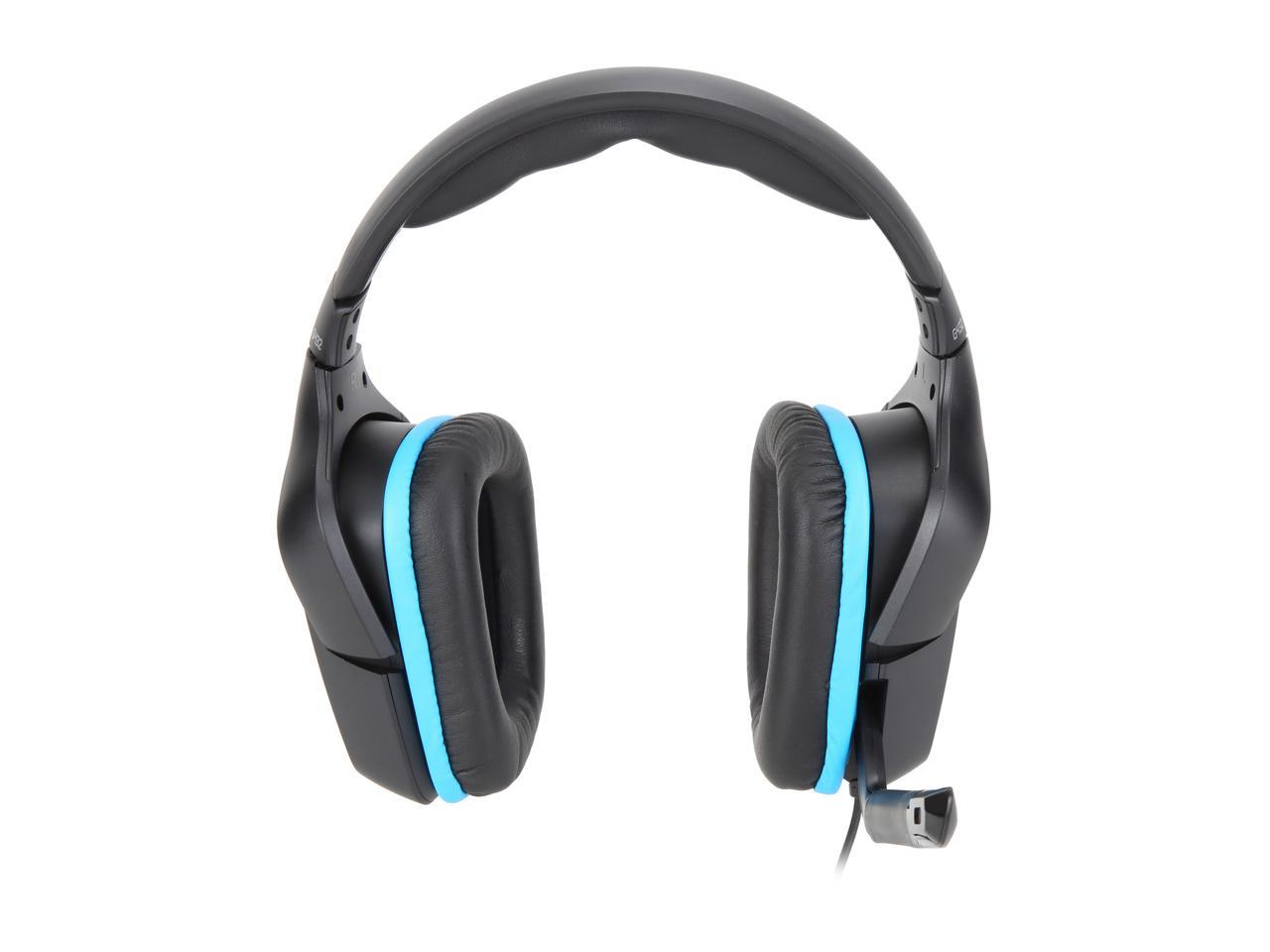 Logitech G432 3.5mm/USB Connector Circumaural 7.1 Surround Sound Wired Gaming Headset