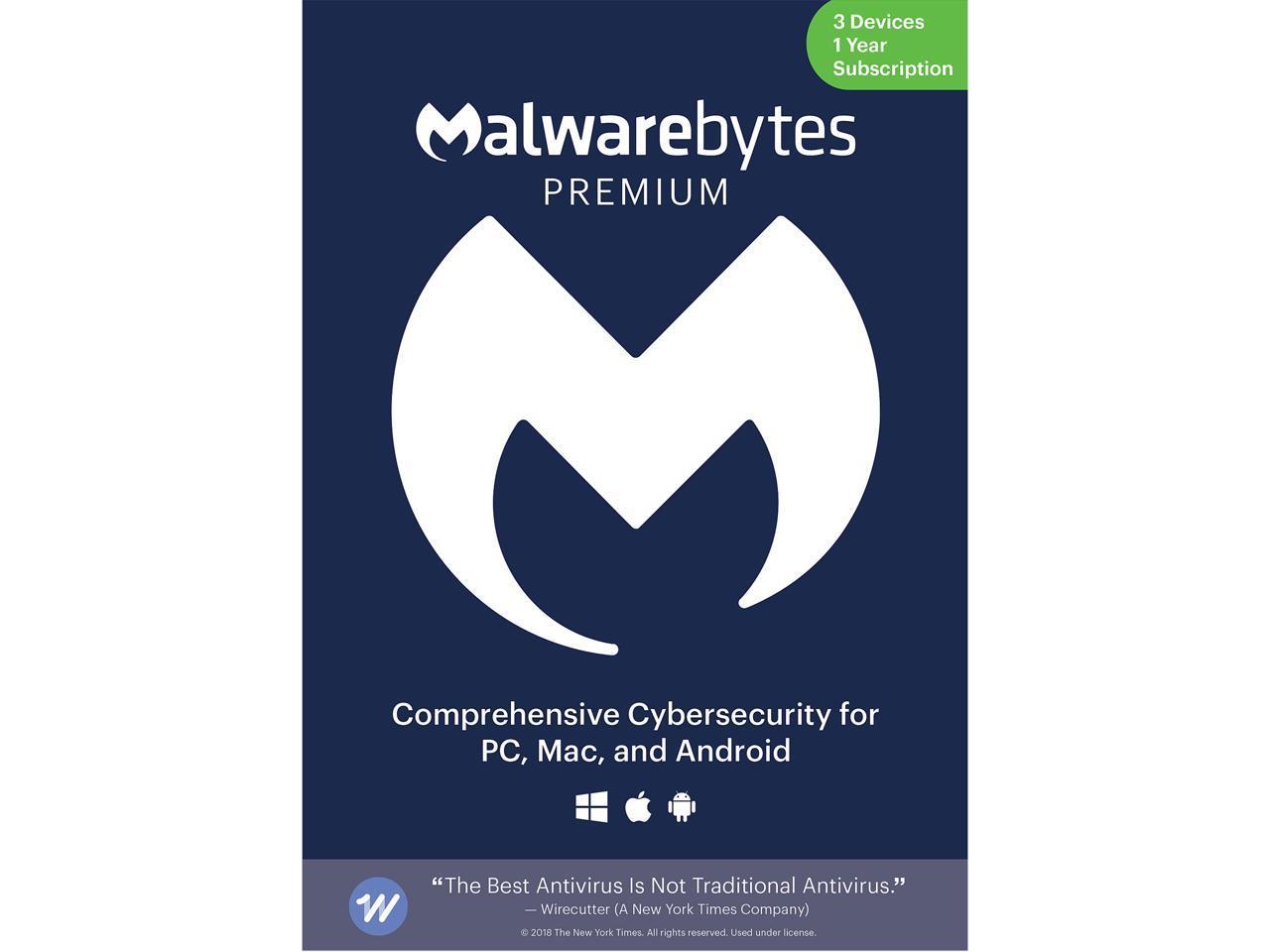 Malwarebytes Anti-Malware Premium 1 YR / 3 PC - Download - Newegg.com