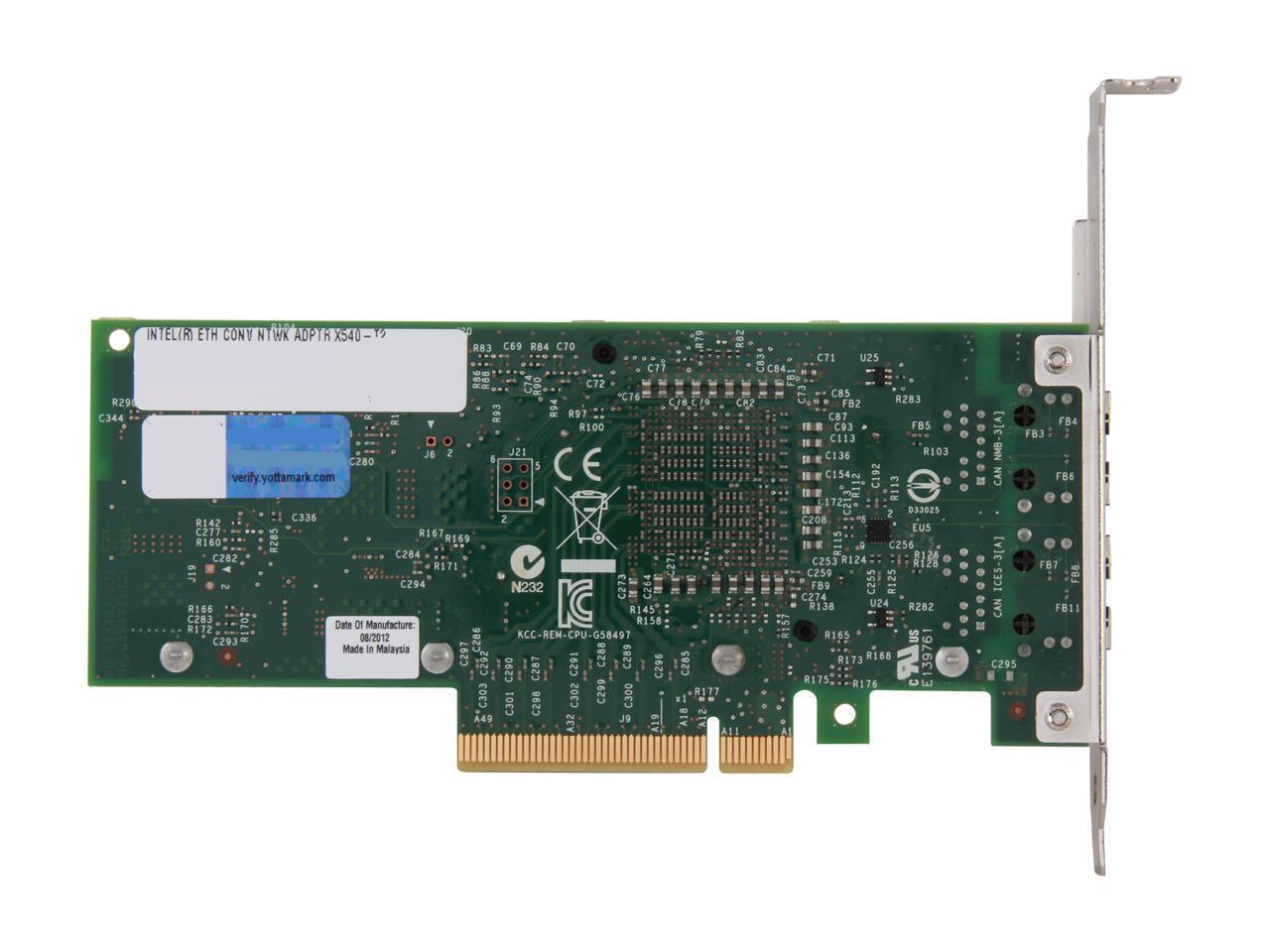Intel X540t2 Pci Express 2 1 X8 Ethernet Converged Network Adapter Newegg Com