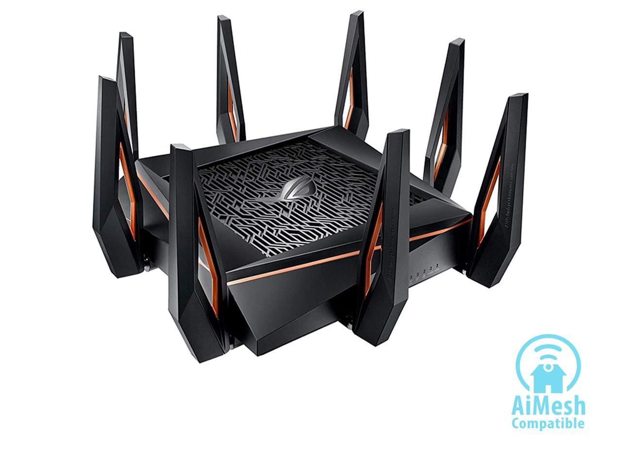 ASUS ROG Rapture GT-AX11000 AX11000 Tri-band 10 Gigabit Wi-Fi Gaming Router