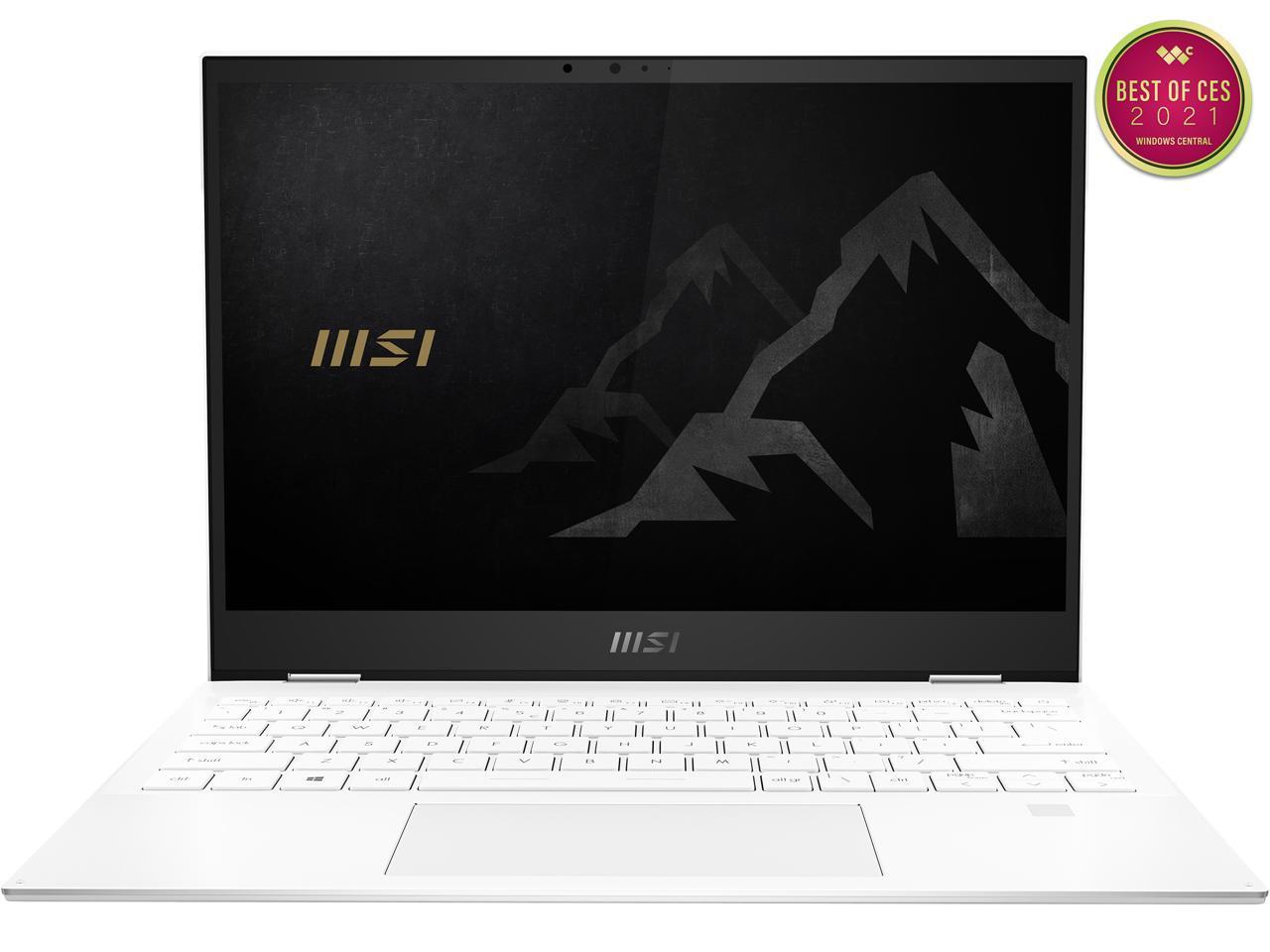 MSI SUMMIT E13FLIP EVO 13.4″ Touch Ultra Thin and Light Laptop, 11th Gen Core i7 Quad Core, 16GB RAM, 512GB SSD, MSI Pen