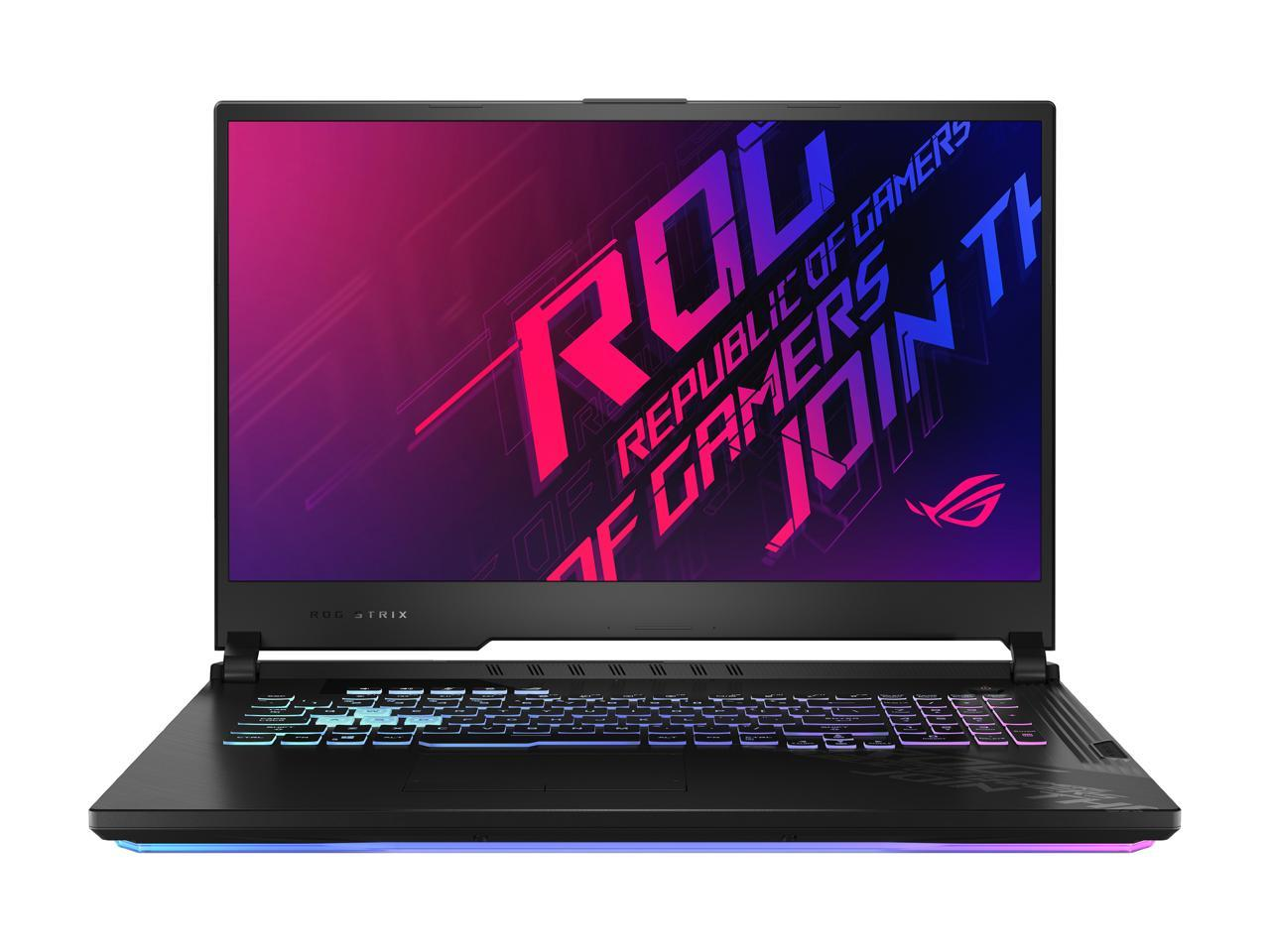 "ASUS ROG Strix G17 17.3"" Intel Core i7-10750H GeForce RTX 2070 16GB DDR4 RAM 512GB SSD Gaming Laptop, G712LW-ES74"