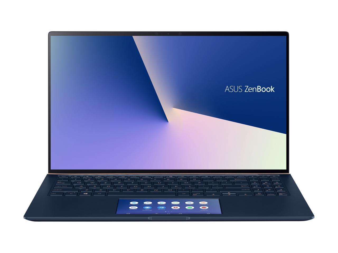 "ASUS ZenBook 15 15.6"" 4K/UHD Intel Core i7-10510U GeForce GTX 1650 Max-Q 16GB RAM 1TB SSD Innovative ScreenPad 2.0 Win 10 Pro UX534FTC-NH77, Royal Blue"
