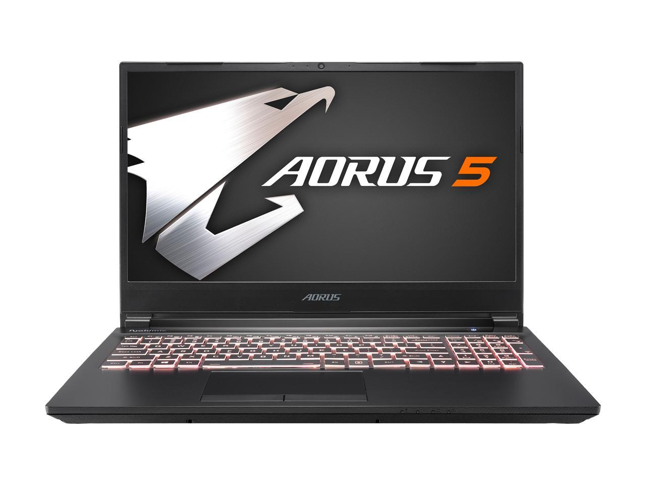 "GIGABYTE Aorus 5 15.6"" Intel Core i7-10750H GeForce RTX 2060 16GB DDR4 RAM 512GB SSD Gaming Laptop,  KB-7US1130SH"