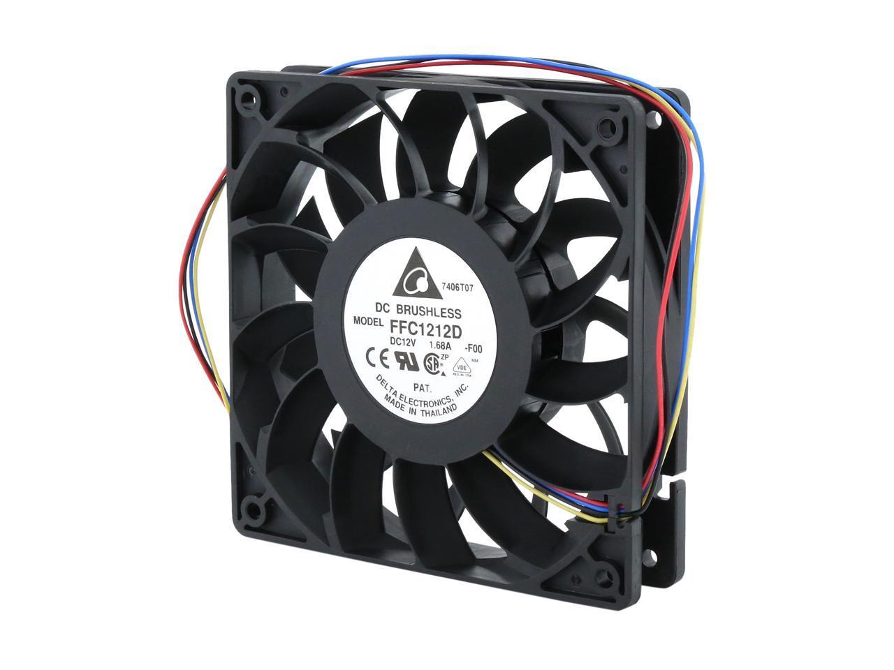 DC 24V Mini Radiator Fan Computer case Rear Fan Black 3pin 4000RPM Heat Sink Fan with Large Air Volume Double Ball Bearing Cooling Fan