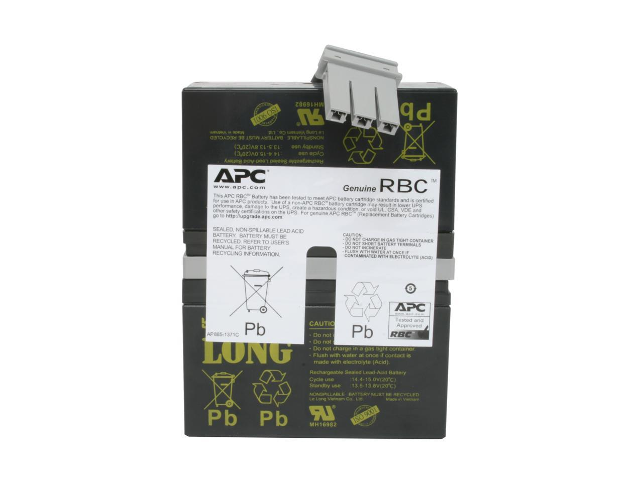 New UPSBatteryCenter RBC32 Battery Pack for APC Back-UPS 1200VA 120V Canada Compatible Replacement BX1200-CN