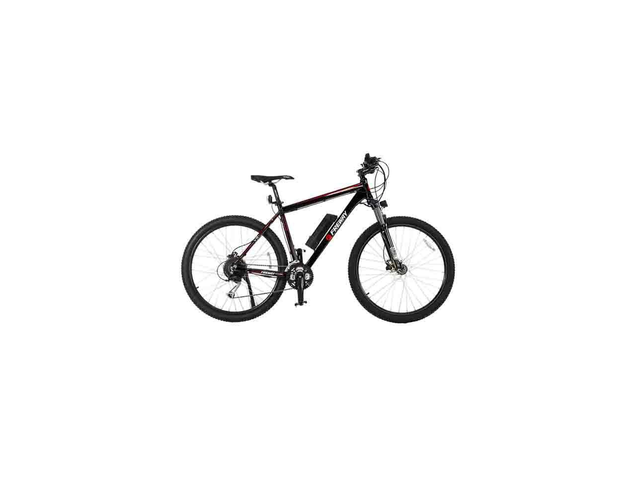 Freway Electric Mountain Ebike With 27 Speed Pedal Assist Black Newegg Com