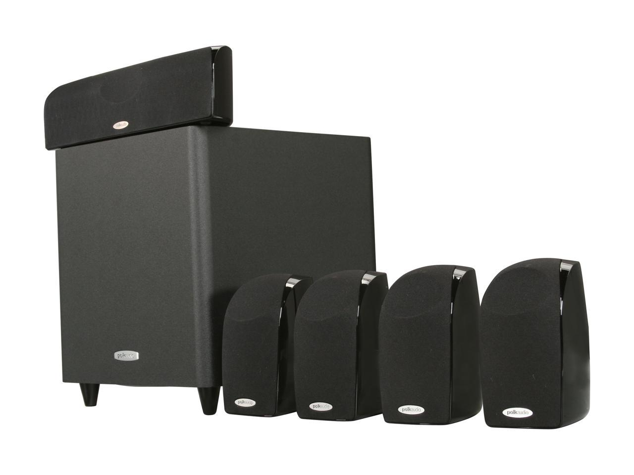 Polk Audio TL1600 5.1 Compact Surround Sound Home Theater System with Powered Subwoofer