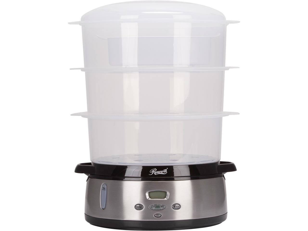 Rosewill 3-Tier Digital Food Steamer 9.5-Quart (9L), RHST-20001