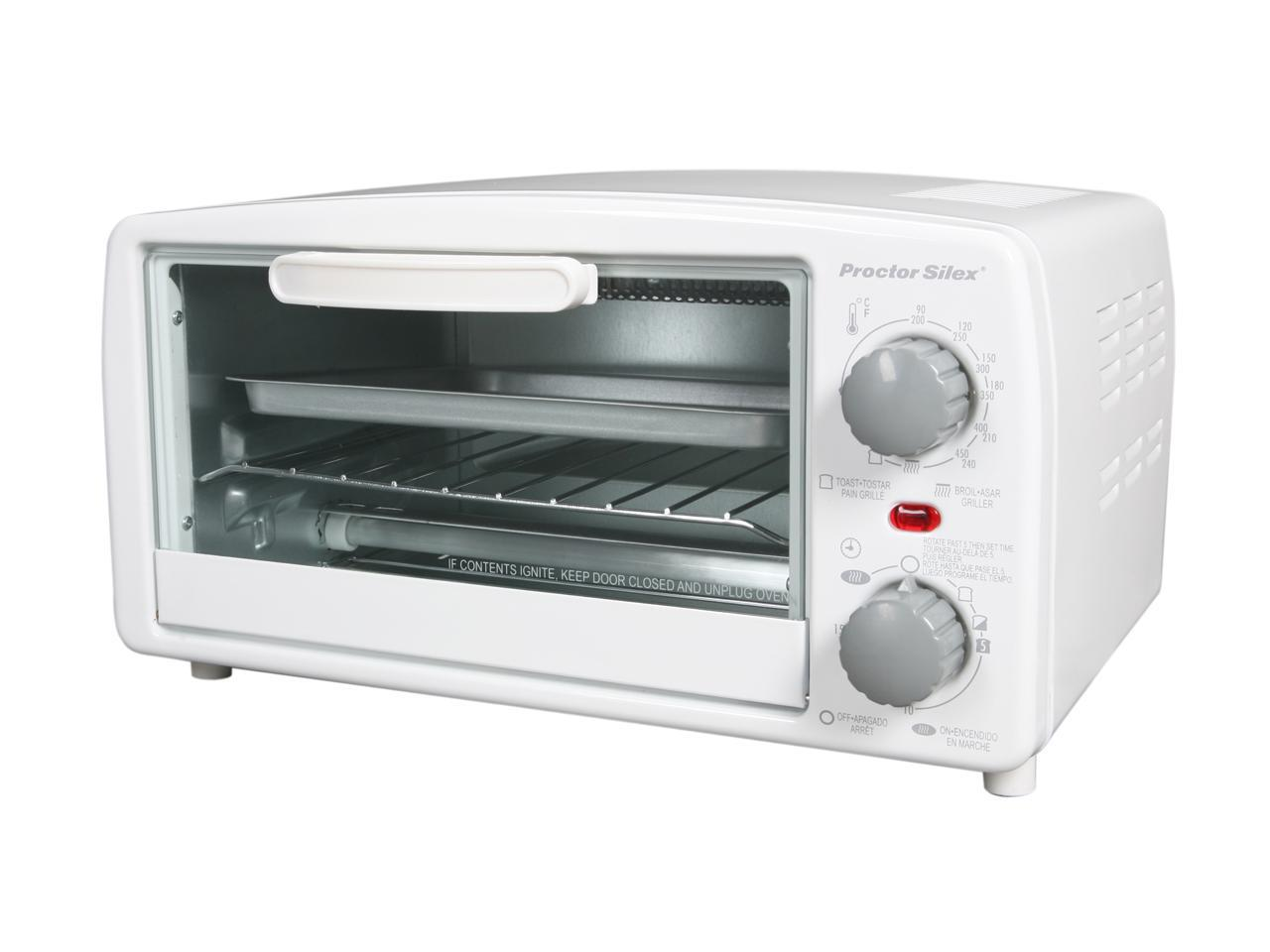 Proctor Silex 31116ps White Toaster Oven Broiler Newegg Com