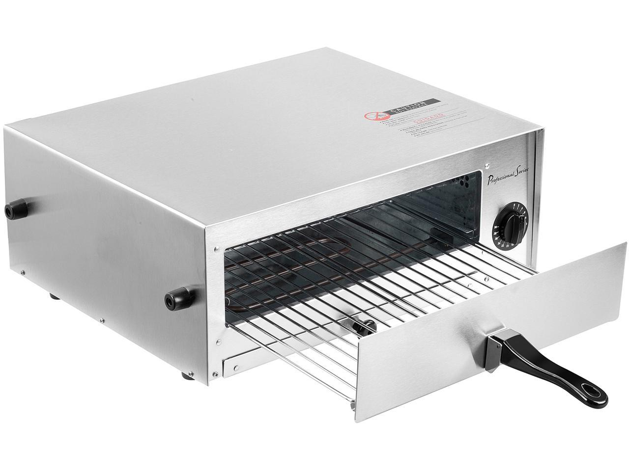 Continental Electric Ps75891 Stainless Steel Pizza Oven Baker And Frozen Snack Oven Newegg Com