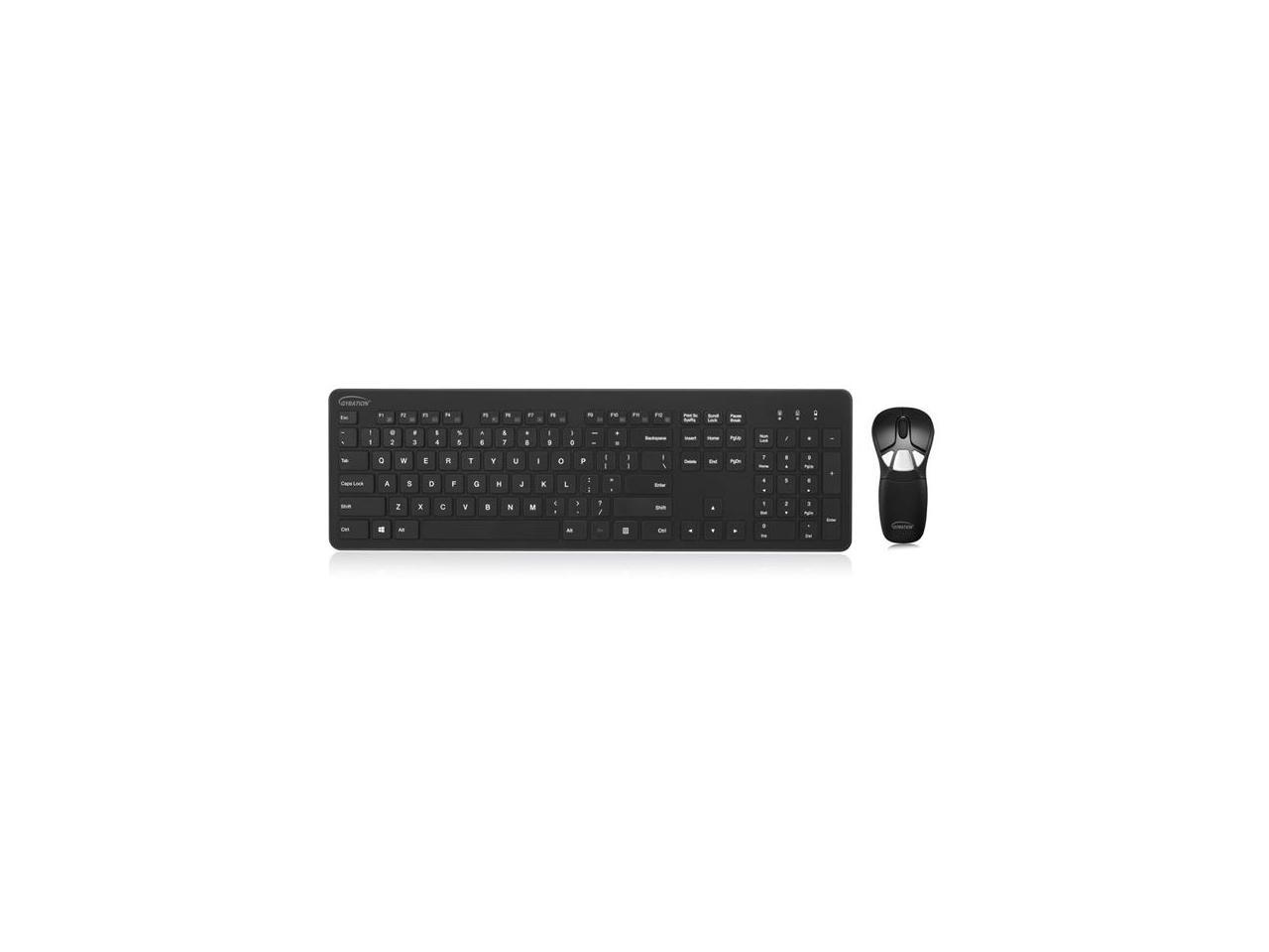 USB USB GYM1100FKNA 104 Keys Wireless Wireless Optical Mouse Gyration Air Mouse GO Plus with Full Size Keyboard Keyboard
