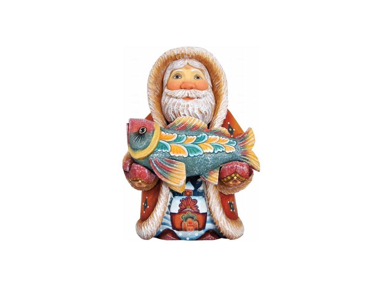 G Debrekht 515202 Derevo Collection Native Santa With Fish 5 In Newegg Com